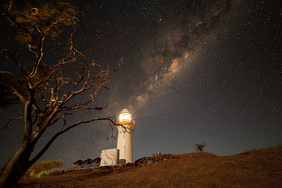 Milky Way Shining from the Cape Leveque Lighthouse