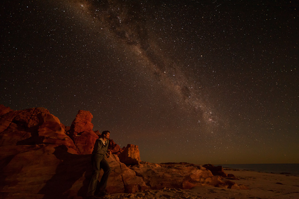 Self Portrait Cape Leveque at Night