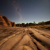 Piccaninny Creek Bed Under the Stars large view