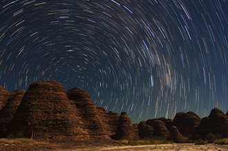 Bungle Bungle Star Trails