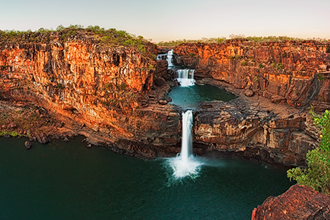 Powerful Mitchell Falls at Dawn