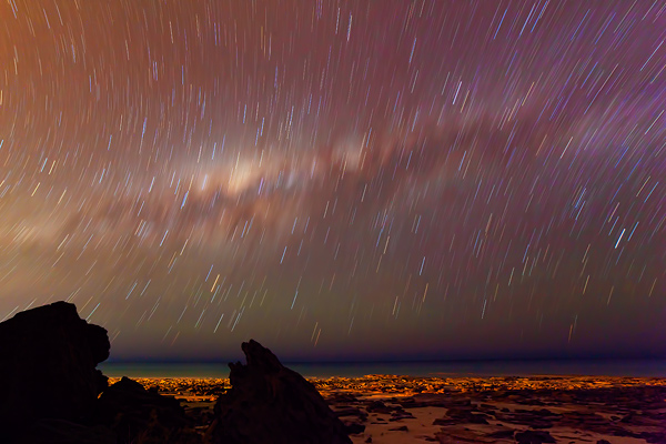 Star Trails and the Milky Way over Cable Beach