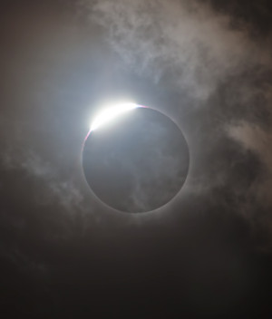 Diamond Ring - Framed by Clouds