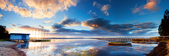 Long Jetty Sunset Panorama