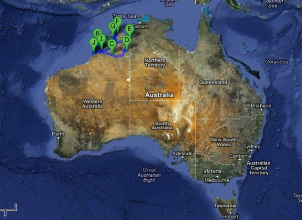 The Kimberley Region of North West Australia. We covered over 3,500 km during the trip.