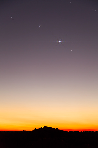 Jupiter and Venus Conjunction at Geikie Gorge