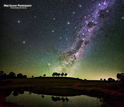 Southern Milky Way Rising over the Dam