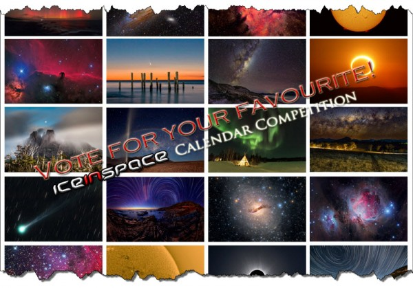 Vote for your favourites in the IceInSpace Astronomy Calendar