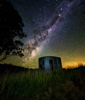 Old Watertank and the Milky Way