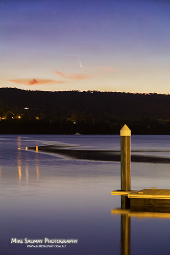 Comet PanSTARRS over Gosford Waterfront