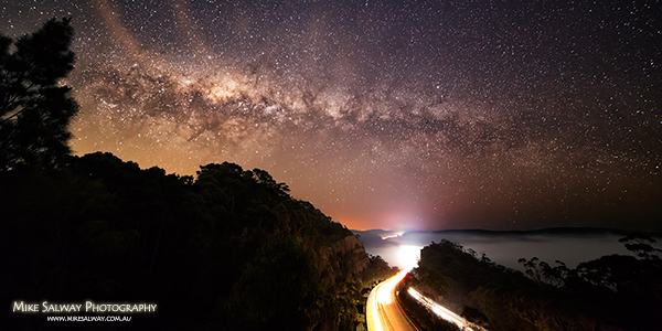 Milky Way Freeway Fog