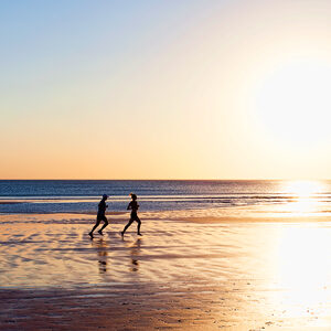 Joggers on Cable Beach