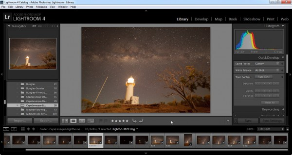 Lightroom for importing, categorisation, filtering, some processing