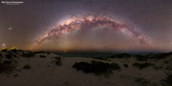 4 Galaxies over Coral Bay