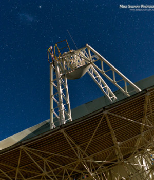 Dish Under Moonlight with the LMC