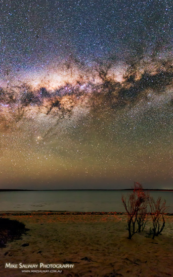 Milky Way and Little Lagoon Vertical