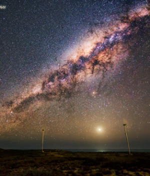 Wind Turbines and the Milky Way