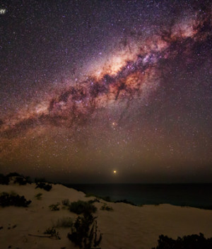 Venus Sets Beneath the Milky Way