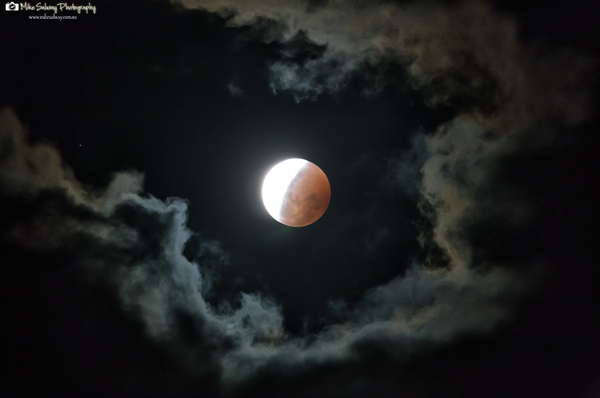 Partial Blood Moon